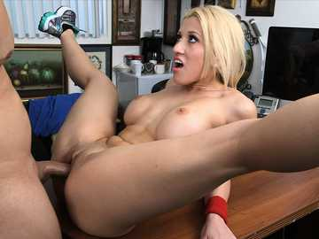 On top of girl desk fucked