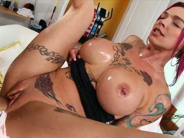 Sexy badass Anna Bell Peaks gets well fucked in a hardcore style shaking her big tits