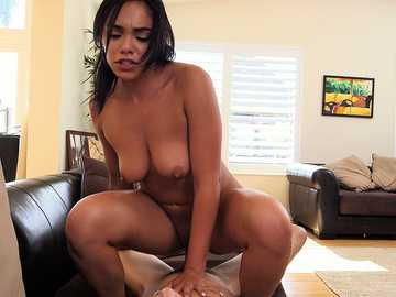 Hardcore ride on a dick for my latina roommaid Selena Santana and her nasty pussy