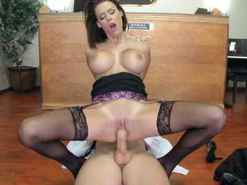 Girl In Stockings Peta Jensen Rubs Wet Pussy Gets Fucked
