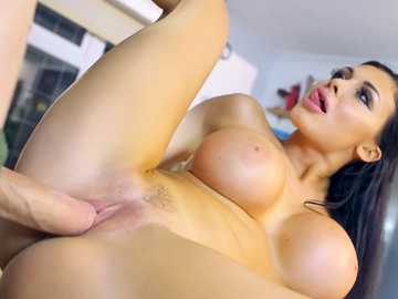 Aletta Ocean lets him ram his massive boner deep into her tender pussy