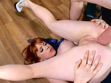 Ginger head beauty Penny Pax is drilled by heavy dick pile driver style