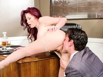 Monique Alexander bangs her tricky boss in big tits worship scene in office