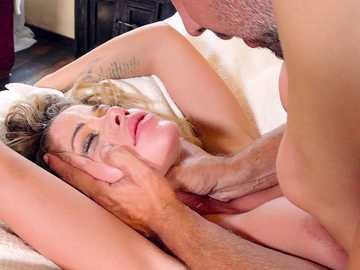 Sneaky babe Jessa Rhodes gets into the place of Keiran and he punishes her with the dick for it