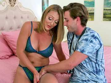Cougar Brenda James lures another young boy into lustful mature debauchery