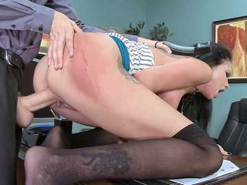Raven Bay in Spanking The Secretary