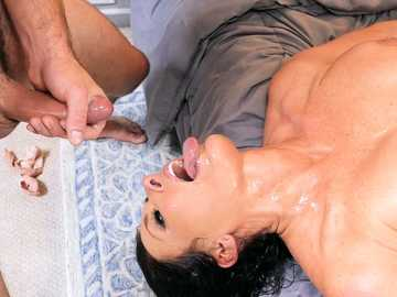 Reagan Foxx the predatory MILF fucks a fiancee then takes facial cumshot