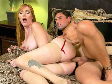 Busty wife Lauren Phillips loves cheating on her hubby with a collegue
