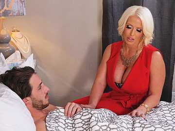 Alura Jenson takes care and serves her son's best friend