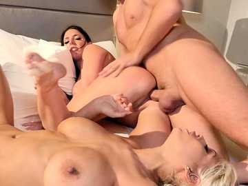 Bridgette B and her husband have a group sex with her best friend Angela White