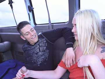 Amateur blonde whore Chloe Marie is ready to fuck in bang bus