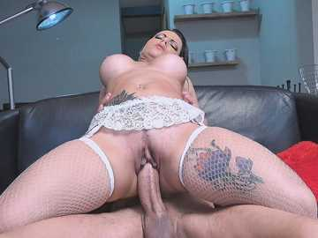 Analine: Ramon's Monster Cock in My Pussy and My Ass