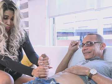 Blonde-haired Latina Avril Santana meets Ramon who owns a giant boner