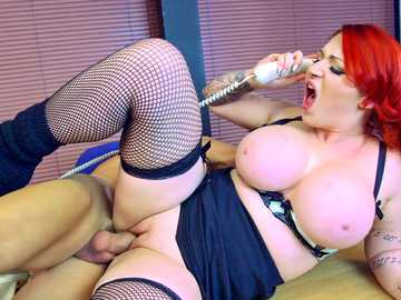 Little whore Harmony Reigns with the huge tits gets a proper lesson in dick taking etiquette