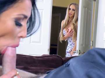 Nicole Aniston watches her husband seduced by busty brunette Audrey Bitoni