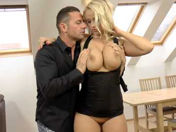 David Perry ensures awesome titty fucking skills of busty blonde Lilith Lee
