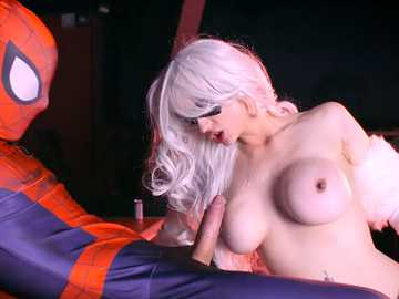 Spidey gives busty Mila Milan in uniform good pussy fucking doggy style