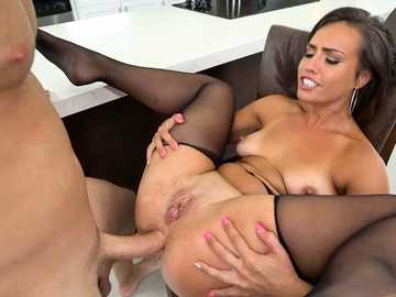 Yummy Latina Kelsi Monroe gets dick both ways - in pussy and in ass
