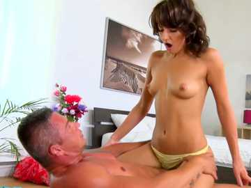 Hardcore air fuck with Mike drives brunette Eurobabe Suzy Rainbow so wild