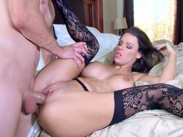 Whore in black stockings Peta Jensen gets screwed and licked by Bill Bailey