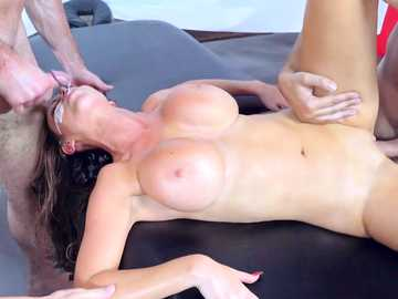 Nikki Benz and Dani Daniels chill out in SPA pussy fucking in a foursome