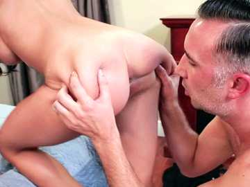 Busty Heather Vahn pays debts with her trimmed pussy fucking doggy style
