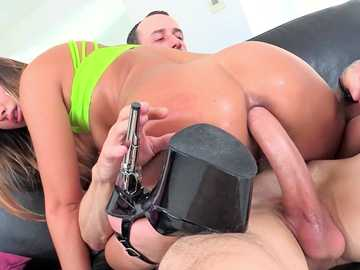 Well-prepared for anal fucking Charlotte Cross rides cock in cowgirl pose