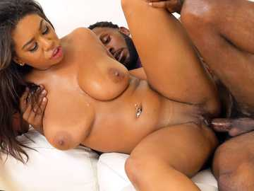 Black girl Katt Garcia gets the big black cock delivered for hardcore sex