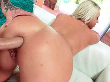 Sticking the huge boner up the ass of hot anal fucking blonde Lexi Lowe