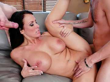 Insatiable MILF Reagan Foxx finds two young boys to enjoys hardcore sex