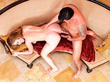 Superior young blonde Lena Paul gets off on big cock in doggy style pose
