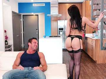 Rachel Starr inevitably seduces her man's best friend with her hot big ass