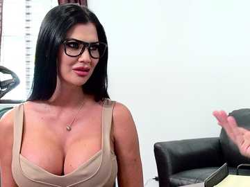 Jasmine Jae MILF gets in trouble with huge Keiran's cock in his office