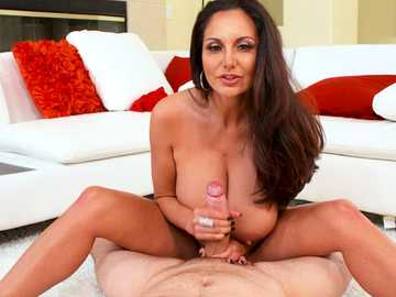 Ava Addams shows her MILF skills pussy fucking the plumber cowgirl style