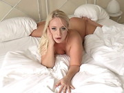 Director David Perry gives super curvy blonde Lilith Lee a sexy French Maid's outfit and ...