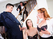 Nymphomaniac MILF Tarra White is tired of how bland her house looks so she and her new husband ...