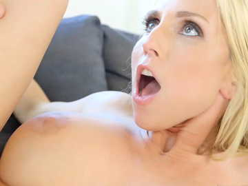 Smooth and busty MILF Christie Stevens takes black cock missionary style