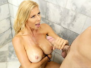 Brad and his dad were watching the game and his step mom, Alexis Fawx, just got back from her ...