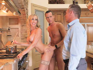Brandi Love hires Justin to help her with chores — which is pussy fucking